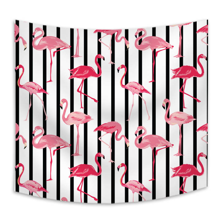 livingroom decorative cartoon printed ins fairy flamingo custom design cotton wall hanging tapestry