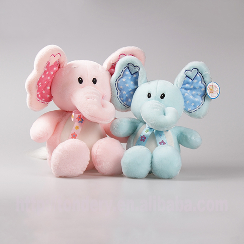 lovely soft animal stuffed pink elephant plush toys promotion