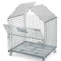 Foldable storage grid metal welded cage pallet by galvanized