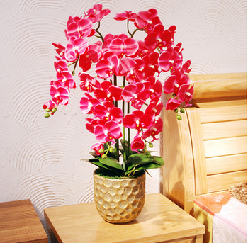 Unique Wholesale Nature Red Artificial Potted Flower Orchid Bonsai ...