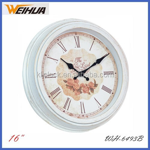 16 inch antique old design wall clock for living room