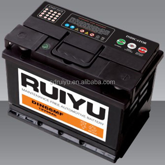 Wet type top post lead acid car battery MF DIN 75