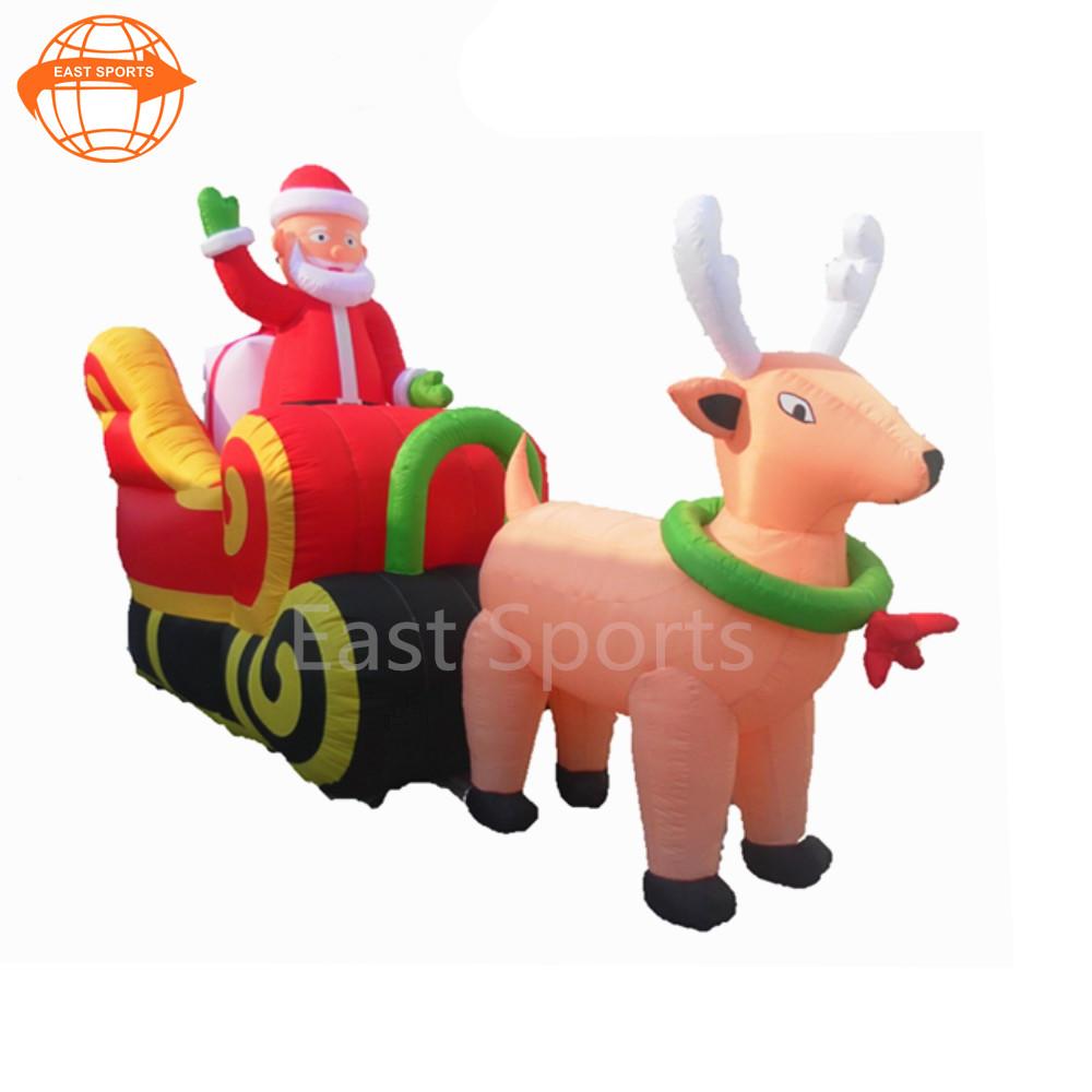 santa and reindeer outdoor decoration santa and reindeer outdoor