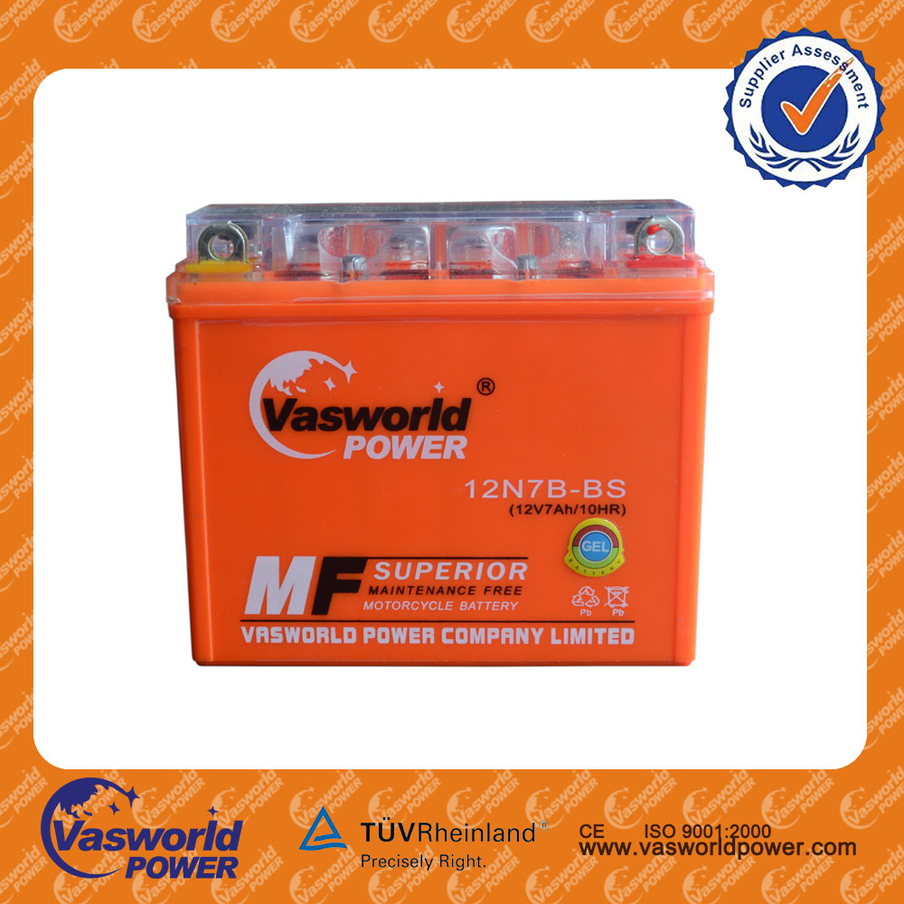 long life price of high quality sealed maintenance free YTX7 12volt 7ah mf motorcycle battery For indonesia market