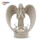 China wholesale home wedding custom gifts & decor polyresin desert angel tea light decorative gift candle holders
