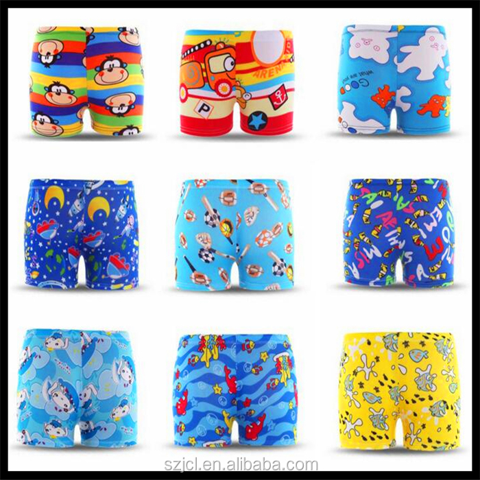 2017 China Wholesale Cheap Kids Swimwear Boys Swimming Trunk / Shorts With Cartoon Pattens