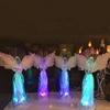 LED acrylic angel wings angel figurine Christmas ornament decorations