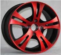 Blue Lip 4 Hole Car Wheel Rims