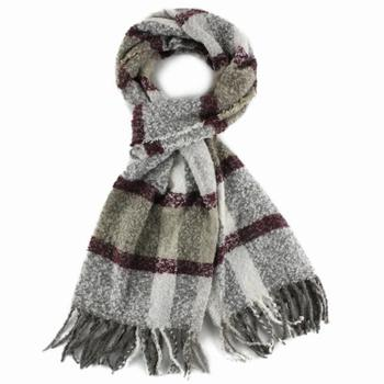 Ladies' polyester boulce customized woven scarf