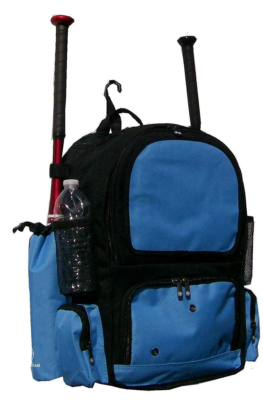 Maxballbags Black and Carolina Blue Chita CY Small Softball Baseball Bat  Equipment Backpack BKCBCY 65cb0d1dee3d0