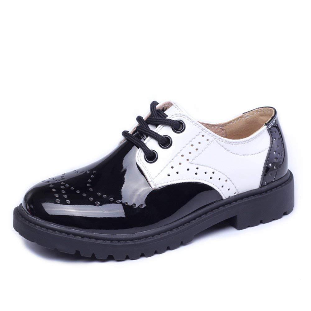 f09e5235179 Get Quotations · T-JULY Kids Uniform Oxford Dress Shoe Boys Shiny Lace-up  Loafer Shoes (