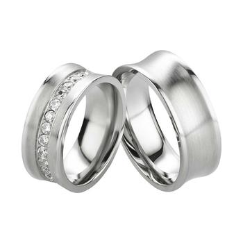 ca9309c4991 Fancy Rings Women Men Wedding Rings Titanium Engagement Bands With ...