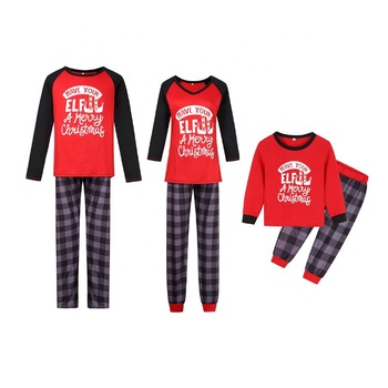 New Arrival Personalized Fashionable Matching Family Christmas Pajamas