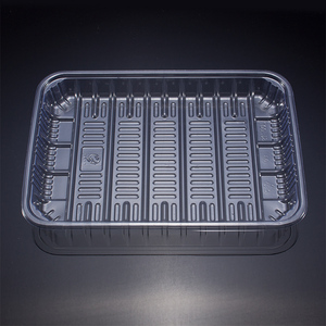 Best sale eco-friendly disposable blister plastic oyster tofu meat vegetable packing tray PET frozen food packaging tray