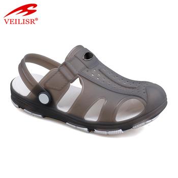 1d9d93877 New design summer beach jelly shoes clear PVC sandals men clogs ...