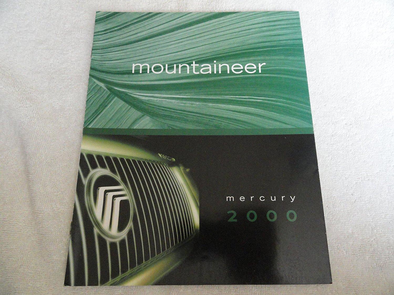 2000 MERCURY MOUNTAINEER COLOR SALES BROCHURE - 8/99 - USA - EXCELLENT !!