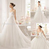 WD9205 Professional supplier ruched layer sleeveless handmade flower waist dreamlike princess wedding dress