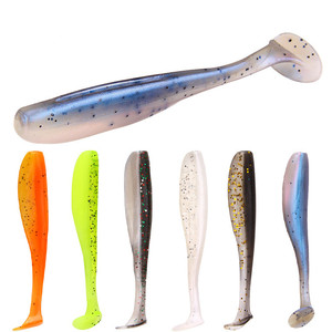 YOUME 20pcs/pack Pesca Artificial Fishing Lure Soft Lure Japan Shad Worm Swimbait Jig Head Fly Fishing Silicone Rubber Fish