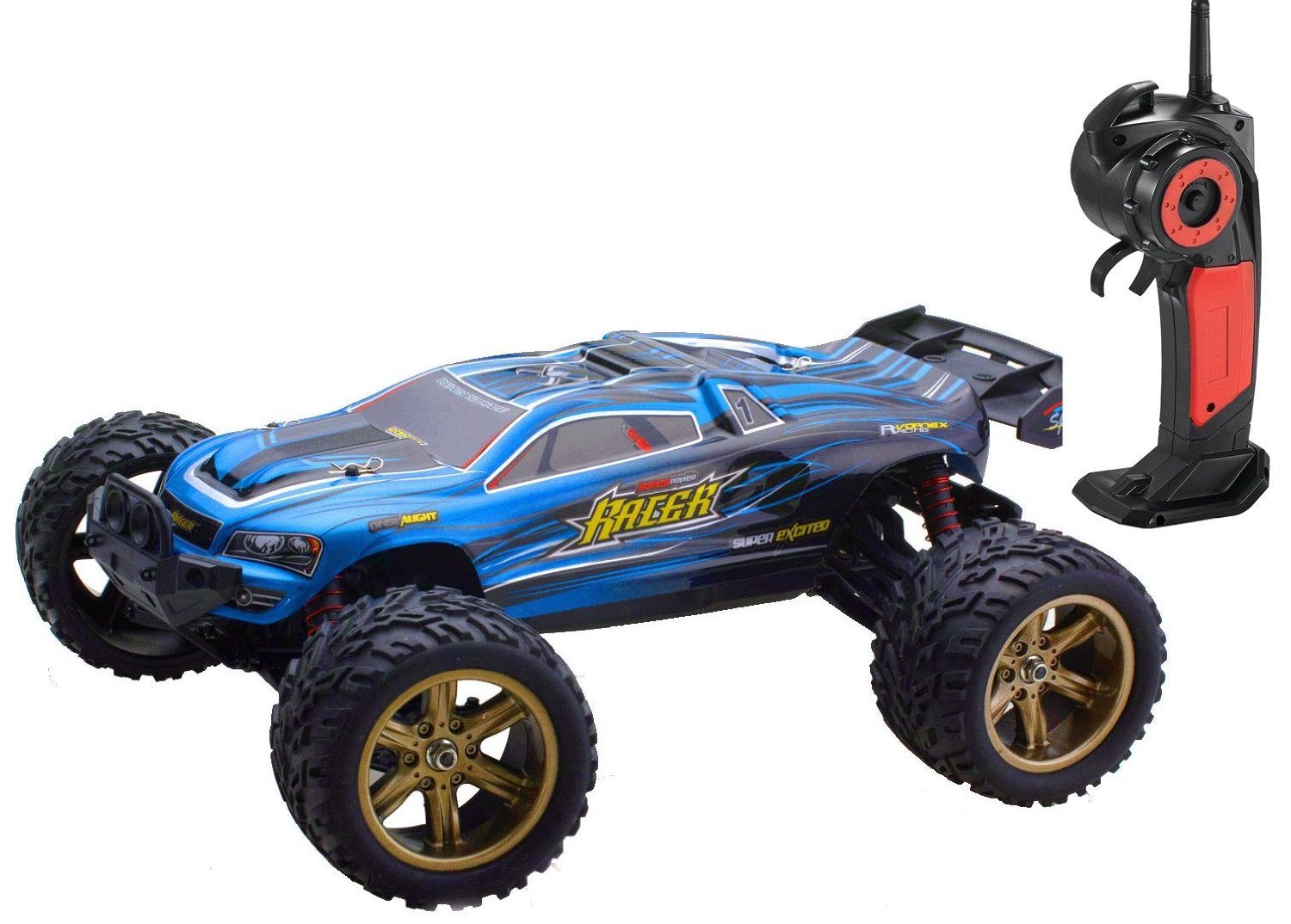 Bo Toys 1/12 Scale Electric RC Car Off-road 2.4Ghz 2WD High Speed 35 MPH Remote Controlled Truck Car