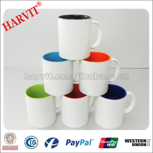 White Blank Sublimation Mug/ China Ceramic Supplier Heat Press Printing Mug Cups/Factory Directly 11oz Magic Mugs