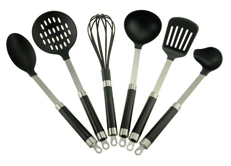 6pcs silicone kitchen utensil cooking set silicone tool for Kitchen tool set of 6pcs sj