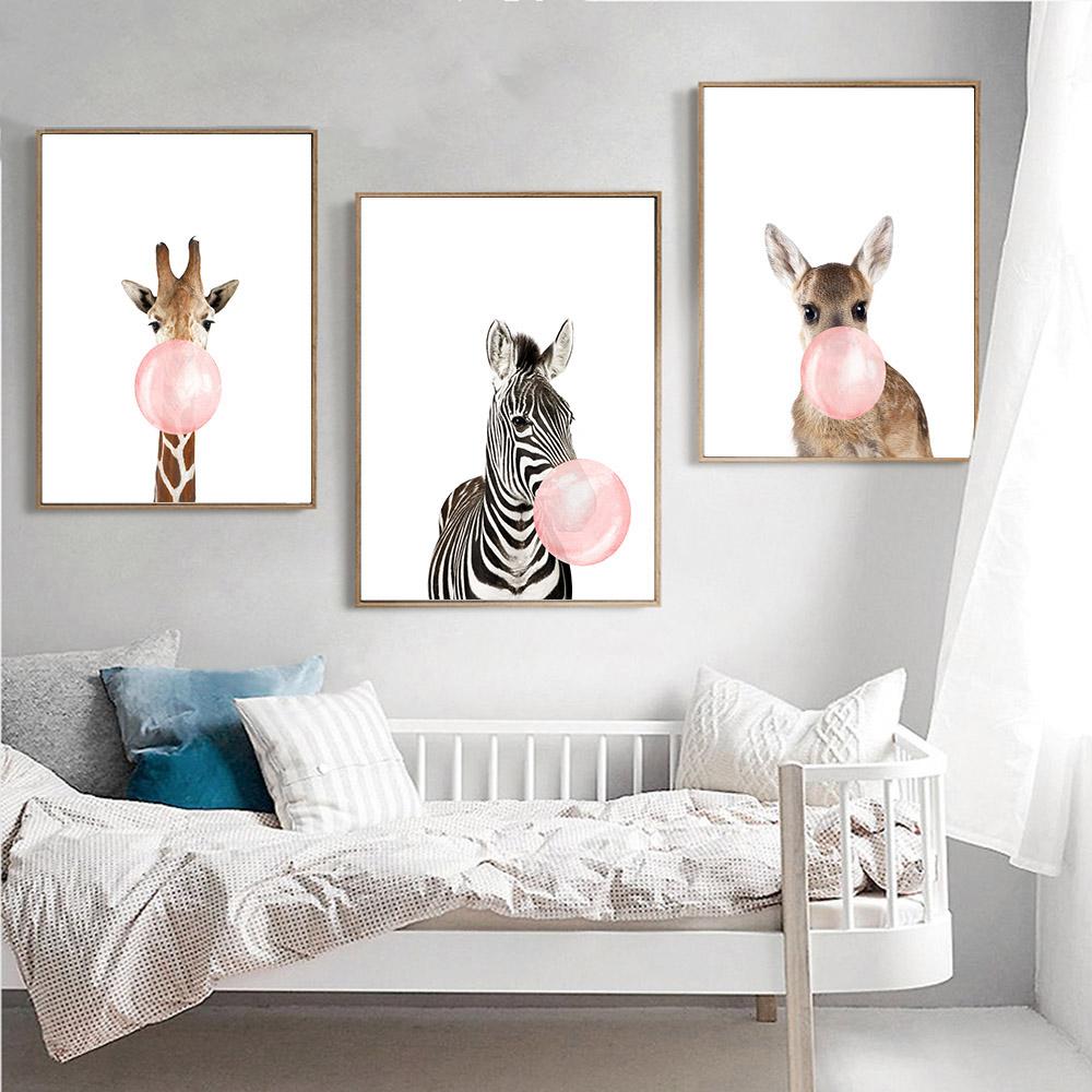 Постеры животных для детского интерьера