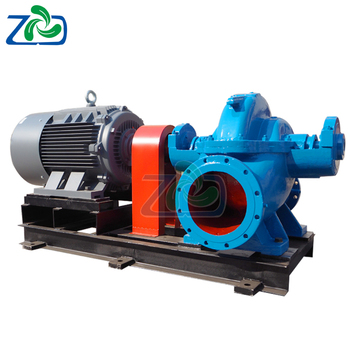 Large packing seal double suction water pumps horizontal centrifugal pump