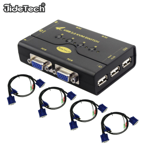 Wholesale 4 Port Manual VGA KVM Switch 1 Input 2 Output for Audio Hdmi Splitter PC or Monitor Switching