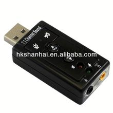 High quality USB External 7.1 Channel high quality 3d audio sound driver