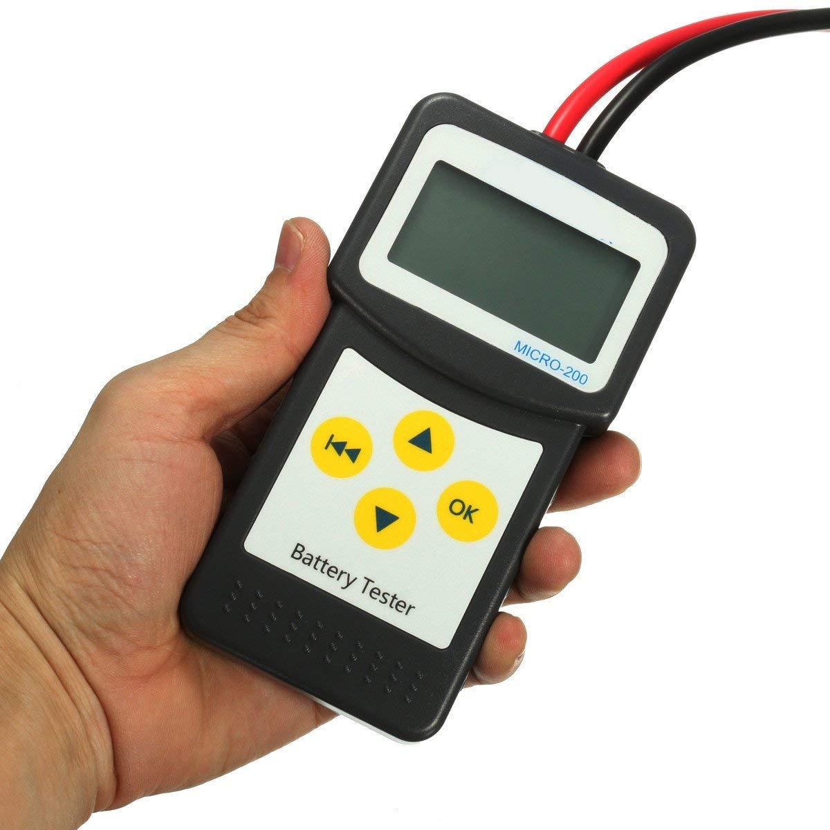 CoCocina 12V Car Battery Tester Automotive Vehicle Battery Analyzer AGM GEL MICRO-200