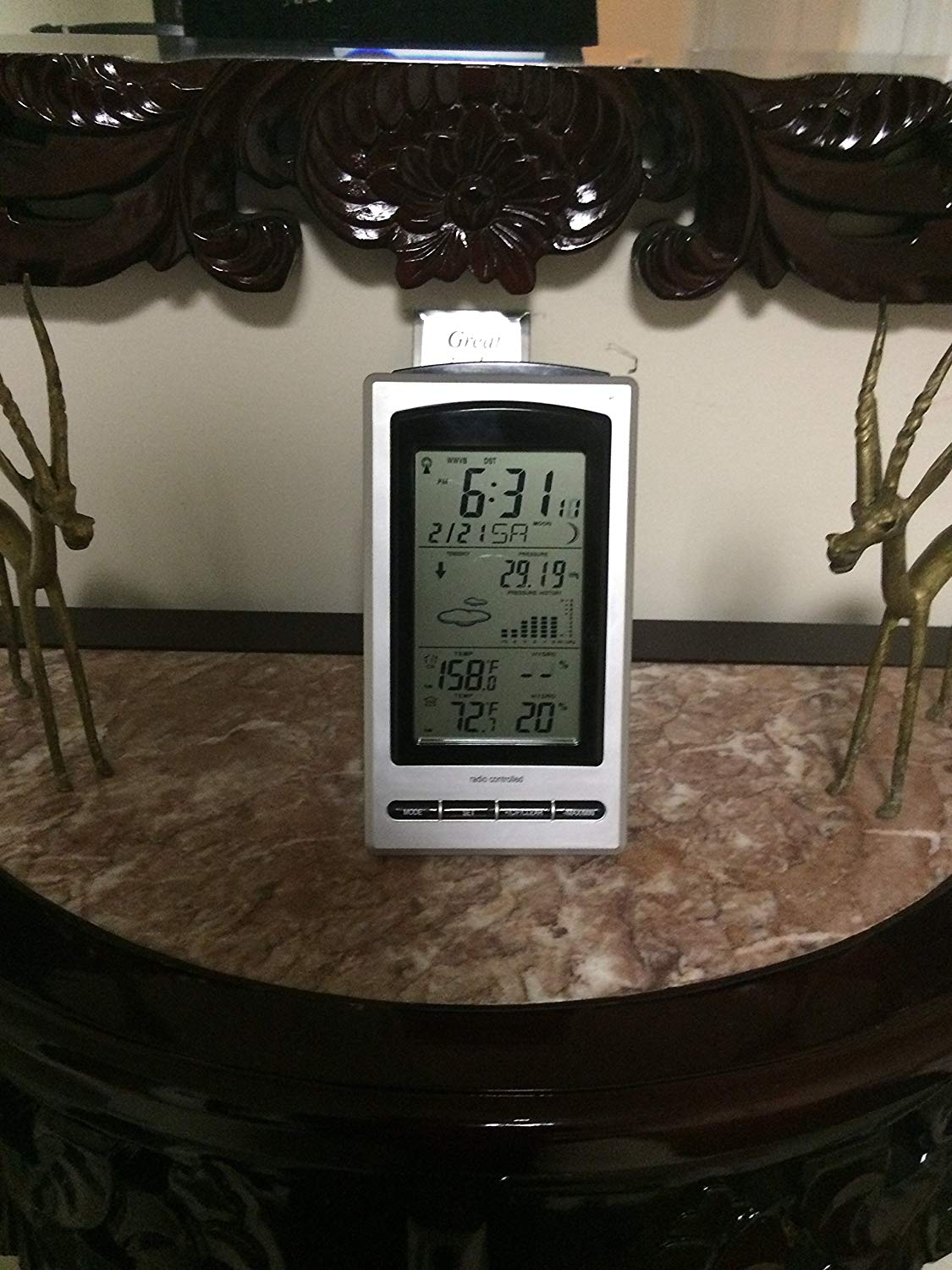 WeatherSpy2.0 WS 1066 Radio controlled, advanced technology, instant reception multi-function Wireless Weather Station,Indoor Outdoor Thermometer, Indoor Outdoor Humidity Monitor / Digital Hygrometer, Digital Barometer with dynamic 24-hour Barometric Pressure graph,Moon Phase with Digital Alarm