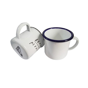 Cheap Giveaways enamel mug, promotional enamel cup
