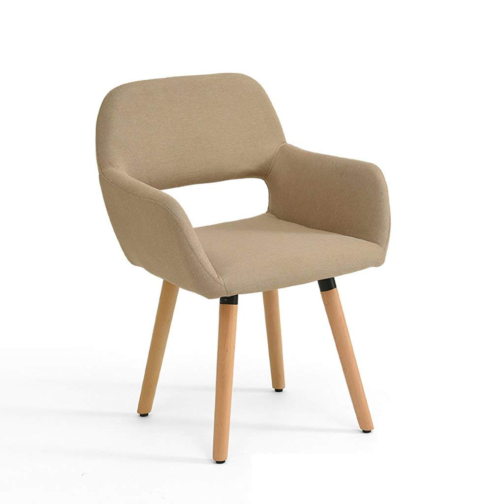 Simple modern fabric dining chair Leisure chair Solid wood chair foot desk chair Computer chair Commercial conference chair Negotiating chair Multiple colors to choose from (Color : E)