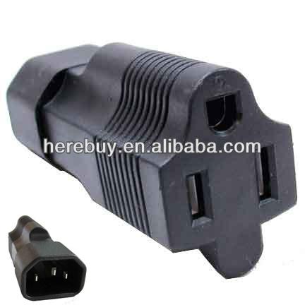 3 Prong Plug Adapter,Usa Nema 5-15r To Iec 60320-c14