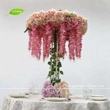 Gnw hot selling 5ft pink wisteria and hydrangea flower gnw hot selling 5ft pink wisteria and hydrangea flower centerpieces tall wedding table decoration junglespirit Choice Image