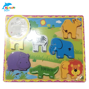 hot sale animal 3D wooden puzzle