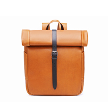 Custom brand luxury laptop mens leather backpack
