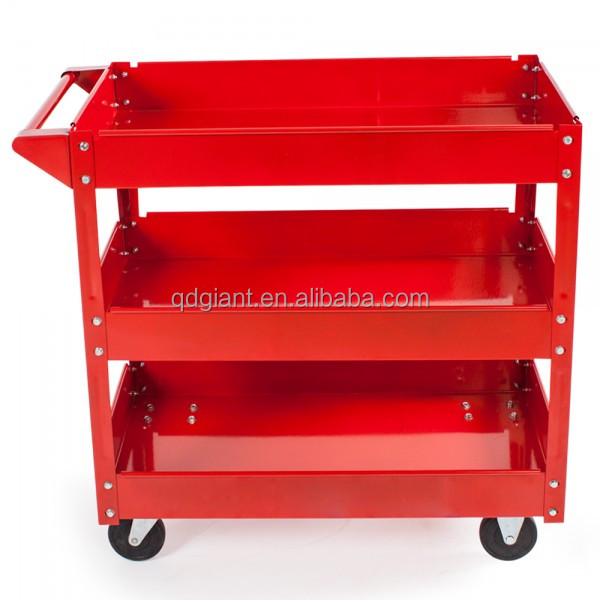 Steel food service hotel/restaurant transport trolley cart