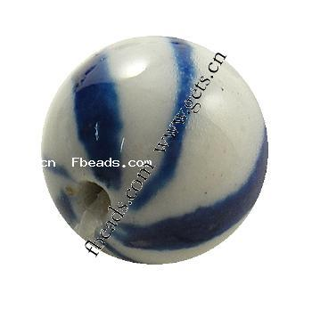 Hand Drawing Blue and White Porcelain Beads