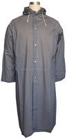 100% water proof pvc/polyester rain coat