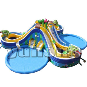 inflatable commercial water park/ inflatable moving water park with slide  and pool