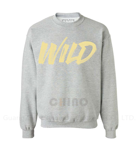 Grey Blank Cotton Sweatshirt