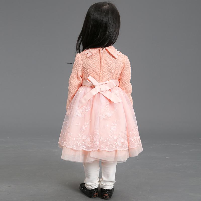 997885637e Uma peça vestidos de festa de meninas vestido de lã para o inverno 3 anos de