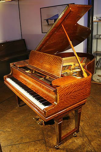 An antique Steinway Model O grand piano