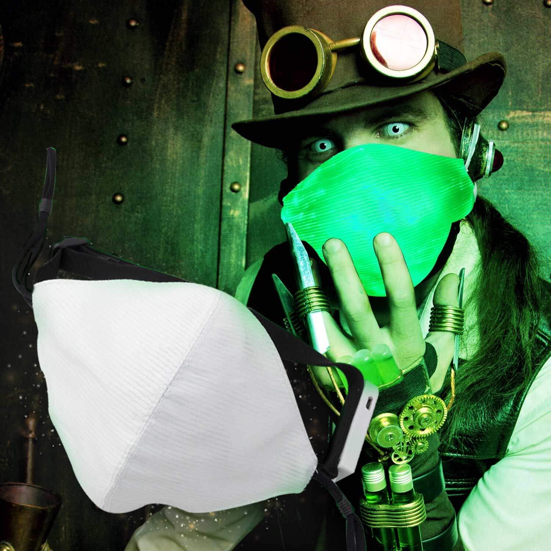 681c363e8be3 Get Quotations · Vakabva Led Dust Mask, 7 Colors Luminous Light up Mask for  Man and Women,