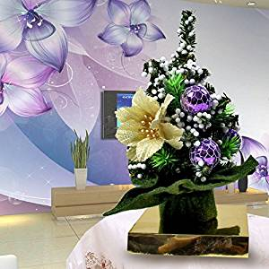 Small Desk tree Christmas trees Christmas tree Mini Christmas tree Desktop Applet Christmas trees are decorated with potted 1820cm , with purple 20cm Jinpei