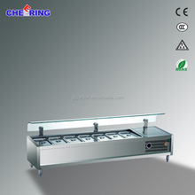 counter top hot cold food bain marie,table top electric bain marie