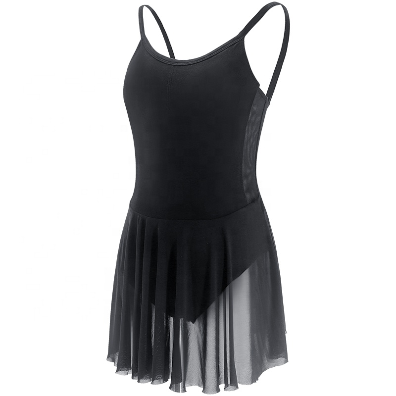 Women Girls Camisole Skirt Ballet Leotard Dress