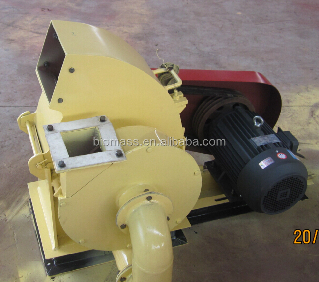 Used Sawdust Blower : High effciency hammer mill for wood chips complete set