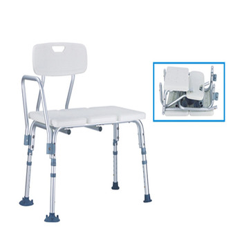 SC6030B-KDChinese Hot sales White Medical Shower Chair Height Adjustable Bath Tub Transfer Seat Benches with Back and Armrest